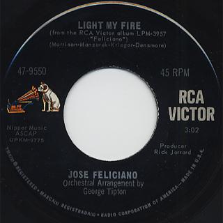 Jose Feliciano / Light My Fire c/w California Dreamin'