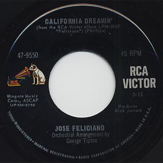 Jose Feliciano / Light My Fire c/w California Dreamin' back
