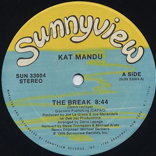 Kat Mandu / The Break c/w The Sunshine Band / Black Water Gold back