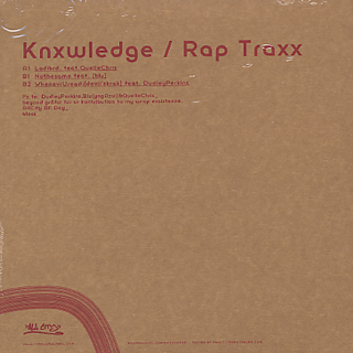 Knxwledge / Rap Jointz Vol.1 back