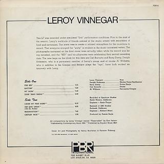 Leroy Vinnegar / The Kid back