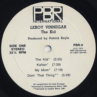 Leroy Vinnegar / The Kid label
