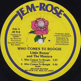 Little Benny and The Masters / Who Comes To Boogie