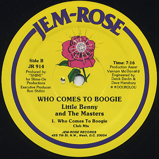 Little Benny and The Masters / Who Comes To Boogie back