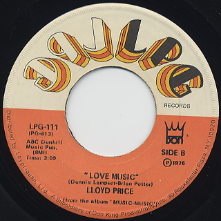 Lloyd Price / What Did You Do With My Love back