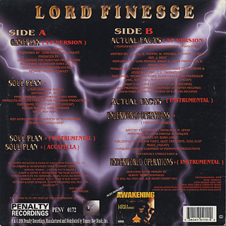 Lord Finesse / Game Plan back