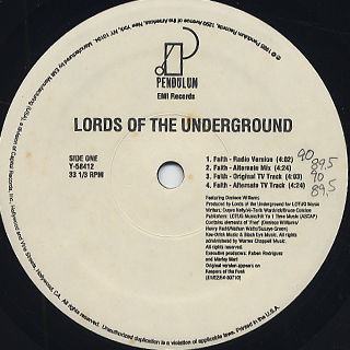 Lords Of The Under Ground / Faith back