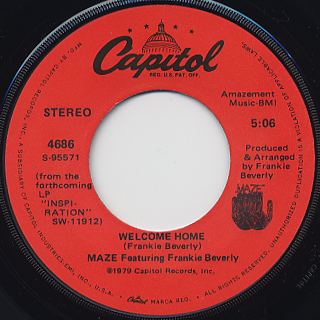 Maze Featuring Frankie Beverly / Feel That You're Feelin' back