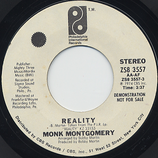 Monk Montgomery / Reality c/w Bump De Bump