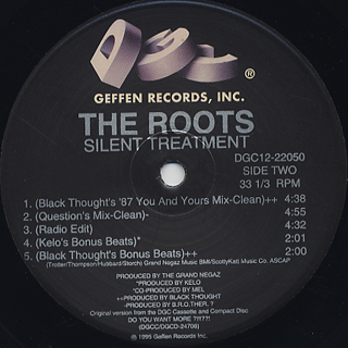 Roots / Silent Treatment back