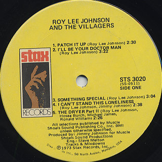Roy Lee Johnson and The Villagers / S.T. label