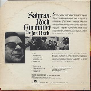 Sabicas with Joe Beck / Rock Encounter back
