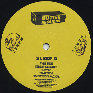 Sleep D / Butter Sessions Vol.1 back