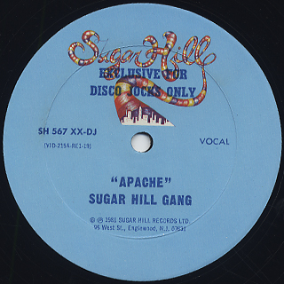 Sugar Hill Gang / Apache back