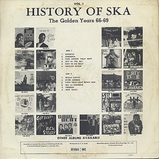 V.A. / History Of Ska Vol.2 The Golden Years 66-69 back