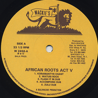 Wackies Rhythm Force / African Roots Act V label
