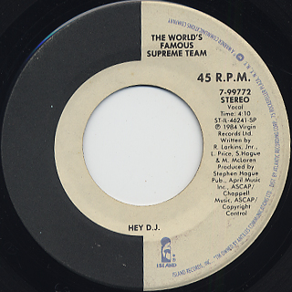 World's Famous Supreme Team / Hey D.J. (VG+)