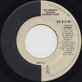 World's Famous Supreme Team / Hey D.J. (VG+) back