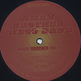 Amen Brother Disco Band / Amen Brother Vol.II front