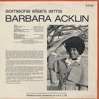 Barbara Acklin / Someone Else's Arms back