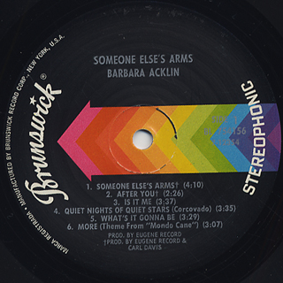 Barbara Acklin / Someone Else's Arms label