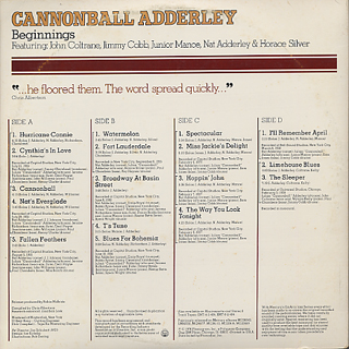 Cannonball Adderley / Beginnings back
