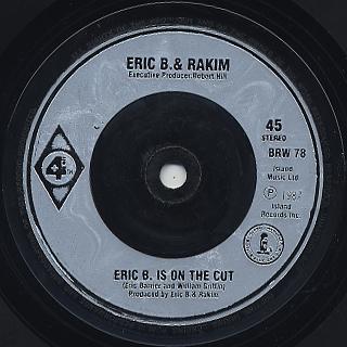 Eric B. & Rakim / Paid In Full (45) back