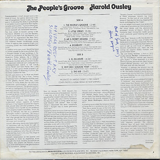 Harold Ousley / The People's Groove back