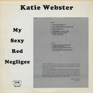 Katie Webster / My Sexy Red Negligee back