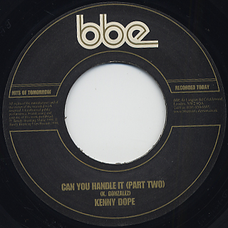 Kenny Dope / Can You Handle It back