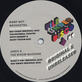 V.A. / (Drop Out Orchestra/(J Kriv And The Disco Machine) Original And Unreleased