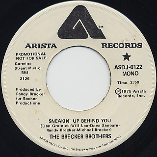 Brecker Brothers / Sneakin' Up Behind You (Promo 45) back
