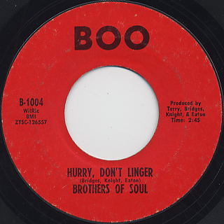 Brothers Of Soul / Hurry Don't Linger front