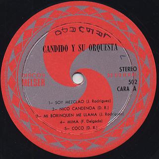 Candido Y Su Orquesta / S.T. label