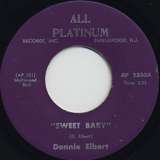 Donnie Elbert / Sweet Baby front