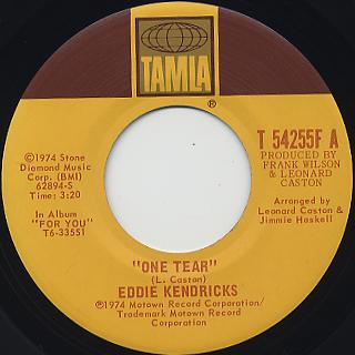 Eddie Kendricks / One Tear c/w The Thin Man