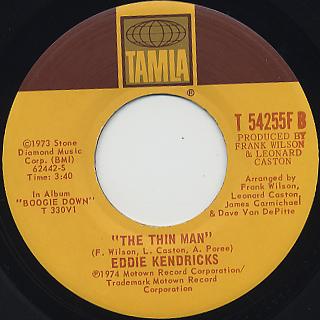 Eddie Kendricks / One Tear c/w The Thin Man back