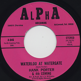 Hank Porter & 4th Coming / Waterloo At Watergate