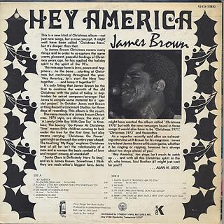 James Brown / Hey America back