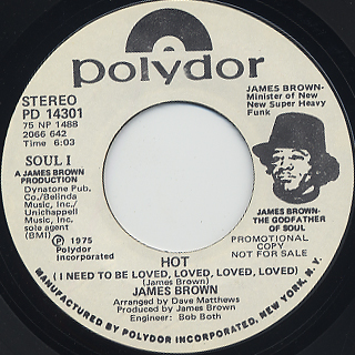 James Brown / Hot (I Need To Be Loved, Loved, Loved, Loved)