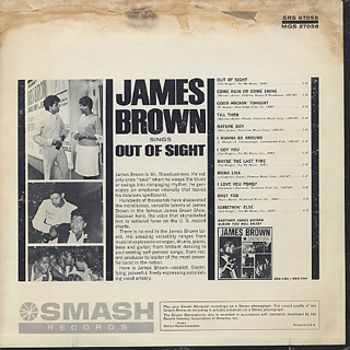 James Brown / Sings Out Of Sight back