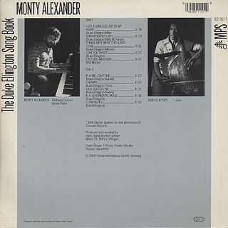 Monty Alexander / The Duke Ellington Song Book back