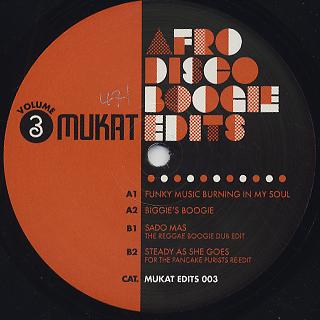 Mukat Edits / Afro Disco Boogie Edits Volume 3