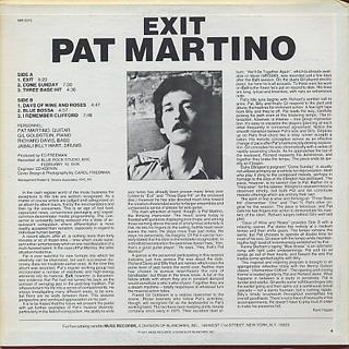 Pat Martino / Exit back