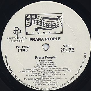 Prana People / S.T. label