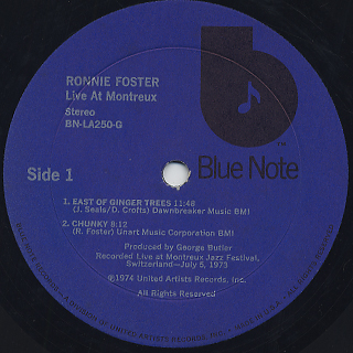 Ronnie Foster / Live: Cookin' With Blue Note At Montreux label