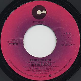 Sister Sledge / We Are Family c/w Easier To Love back