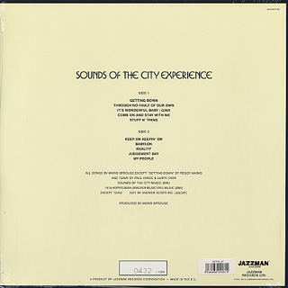 Sounds Of The City Experience / S.T. back