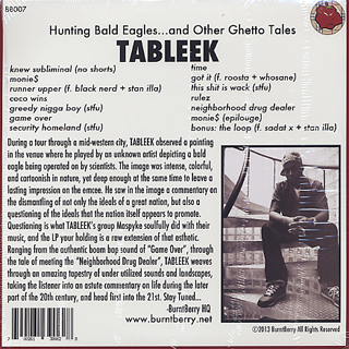 Tableek / Hunting Bald Eagles.. And Other Ghetto Tales back