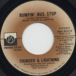 Thunder and Lightning / Bumpin' Bus Stop c/w (Part II)